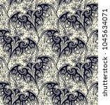 bat. seamless pattern. black... | Shutterstock .eps vector #1045634071