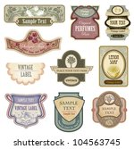 ornate vintage labels in style...
