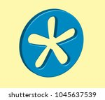 3d blue asterisk in vector...