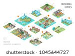 set of isolated isometric... | Shutterstock .eps vector #1045644727
