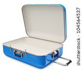 opened suitcase isolated on... | Shutterstock . vector #104564537