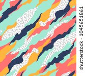 seamless pattern with abstract... | Shutterstock .eps vector #1045651861