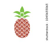 vector pineapple icon  tropical ... | Shutterstock .eps vector #1045655065