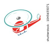 helicopter icon  vector copter  ... | Shutterstock .eps vector #1045655071