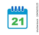 vector calendar day icon  day... | Shutterstock .eps vector #1045655125