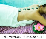 beautiful girl relax spa and... | Shutterstock . vector #1045655434