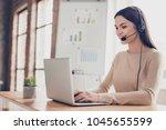 part time job concept. half... | Shutterstock . vector #1045655599