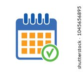 calendar checkmark icon  vector ... | Shutterstock .eps vector #1045656895