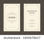 luxury business card and... | Shutterstock .eps vector #1045670617