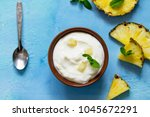 homemade healthy breakfast.... | Shutterstock . vector #1045672291