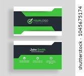 horizontal business card with... | Shutterstock .eps vector #1045675174
