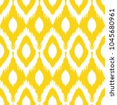 seamless ikat pattern in yellow ... | Shutterstock .eps vector #1045680961