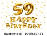 vector happy birthday 59th... | Shutterstock .eps vector #1045683481