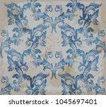 damask old pattern ornament... | Shutterstock .eps vector #1045697401