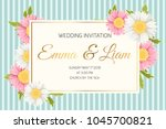 wedding marriage event... | Shutterstock .eps vector #1045700821