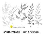 universal trend dotty leaves... | Shutterstock .eps vector #1045701001