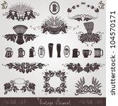 beer vintage old element mug... | Shutterstock .eps vector #104570171