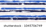 modern watercolor brush stripes ... | Shutterstock .eps vector #1045706749