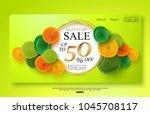 green horizontal sale banner... | Shutterstock .eps vector #1045708117