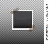 taped photo frame. template... | Shutterstock .eps vector #1045717375