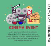 cinema event design with place... | Shutterstock .eps vector #1045717639