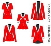 collection of women's red...   Shutterstock .eps vector #1045720924