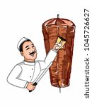 doner kebab  cartoon... | Shutterstock .eps vector #1045726627