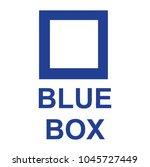 blue box   sign  vector | Shutterstock .eps vector #1045727449
