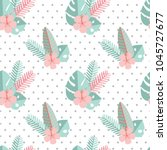 vector seamless pattern with... | Shutterstock .eps vector #1045727677