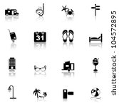 travel   vacation  icons set.... | Shutterstock .eps vector #104572895