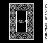 vintage white border frame with ... | Shutterstock .eps vector #1045734199