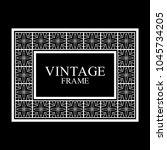 vintage white border frame with ... | Shutterstock .eps vector #1045734205