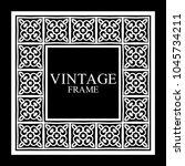 vintage white border frame with ... | Shutterstock .eps vector #1045734211