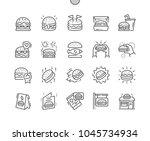 burger well crafted pixel... | Shutterstock .eps vector #1045734934