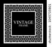 vintage  white border frame... | Shutterstock .eps vector #1045735801