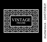 vintage  white border frame... | Shutterstock .eps vector #1045735819