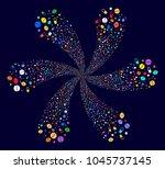 psychedelic medication pills...   Shutterstock .eps vector #1045737145