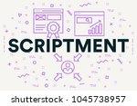 conceptual business... | Shutterstock . vector #1045738957