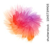 abstract hand drawn watercolor... | Shutterstock . vector #1045739905