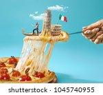 taste italy concept. the... | Shutterstock . vector #1045740955