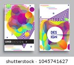 covers templates set with... | Shutterstock .eps vector #1045741627