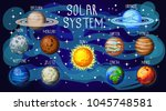 set of space elements  our... | Shutterstock .eps vector #1045748581