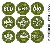 gluten  lactose  sugar  gmo... | Shutterstock .eps vector #1045748707