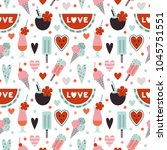 vector seamless pattern with... | Shutterstock .eps vector #1045751551