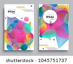 covers templates set with... | Shutterstock .eps vector #1045751737