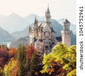 Small photo of Wonderful Sunny landscape. Autumn in Germanian Alps. Incredible majestic Neuschwanstein castle in Autumn. Popular locations for Photographers. concept of travel vacation. Amazing Natural background.