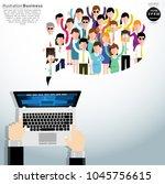 vector flat  hand of... | Shutterstock .eps vector #1045756615