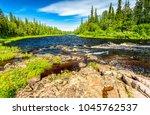 forest river summer landscape.... | Shutterstock . vector #1045762537