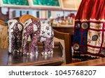 pair of ornamental vintage... | Shutterstock . vector #1045768207