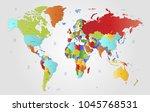 world map vector. | Shutterstock .eps vector #1045768531